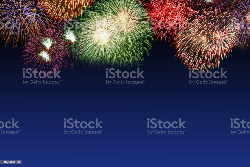 New Year\'s Eve fireworks copyspace copy space years year firework...