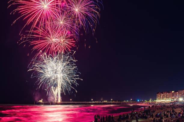 Silvesterfeuerwerk in Glenelg – Foto