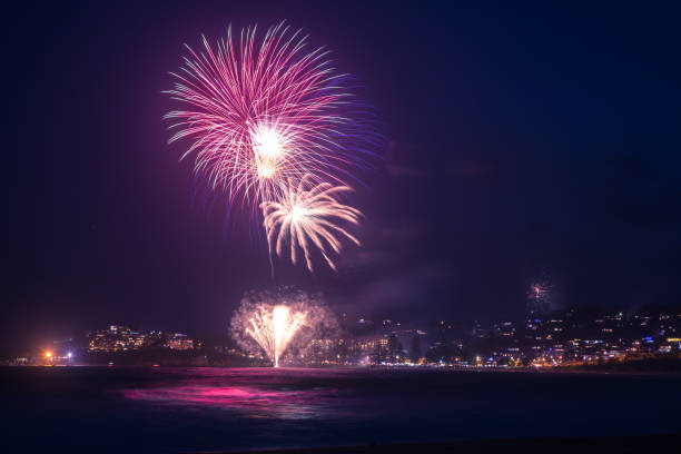 New Years Eve Fireworks stock photo