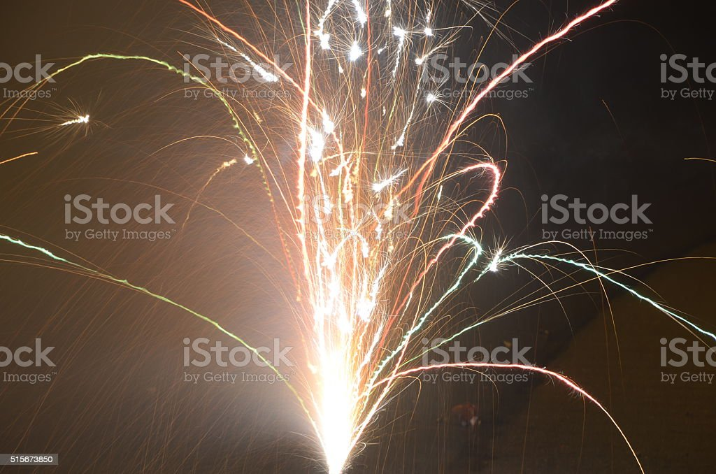 Silvesterfeuerwerk stock photo