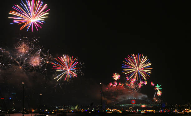 New Year's Eve Fireworks stock photo