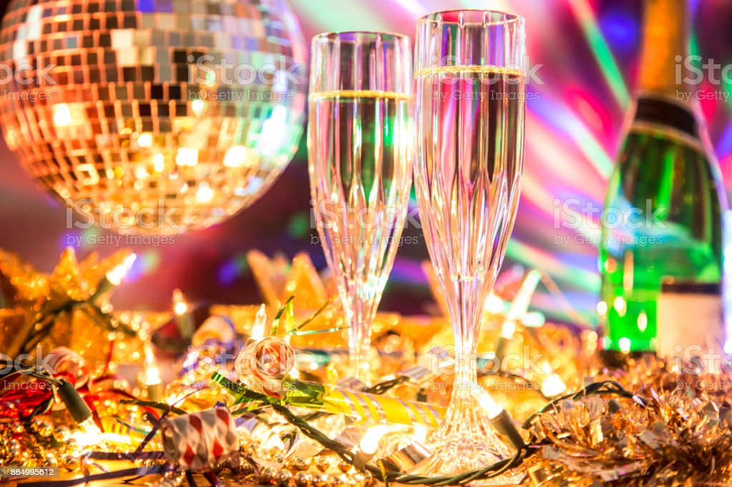 Disco Ball Decorations Endearing New Years Eve Holiday Party With Champagne Disco Ball Decorations 2018