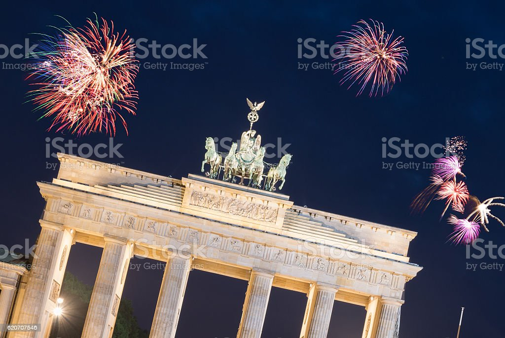 New Year´s Eve in Berlin stock photo