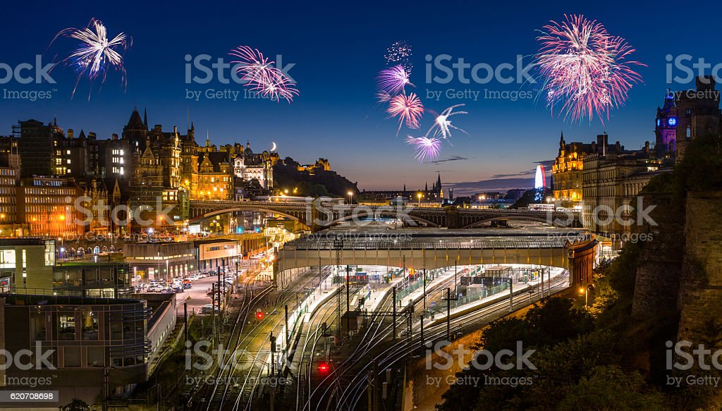 New Year´s Eve in Edinburgh - Scotland stock photo