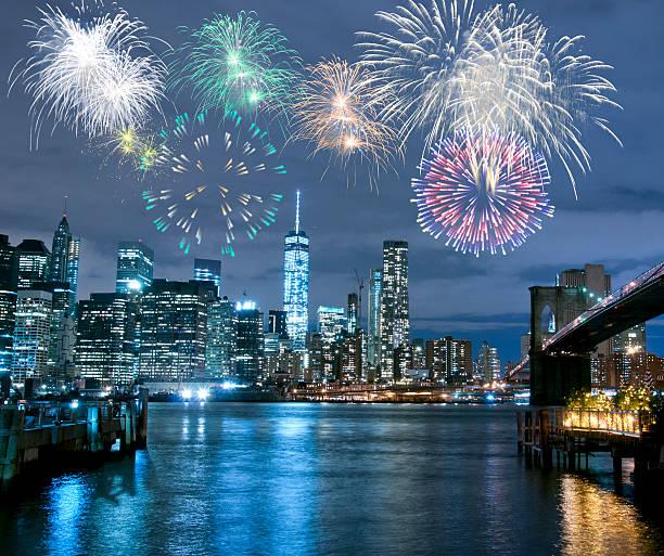 silvester in new york city - new york new year stock-fotos und bilder