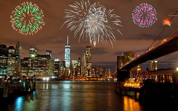 silvester in new york city, usa - new york new year stock-fotos und bilder
