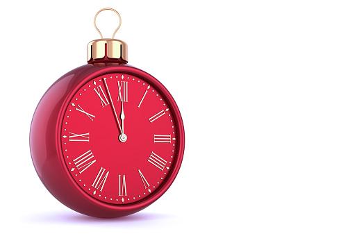 istock New Year's Eve last hour countdown Christmas ball clock 1011772472