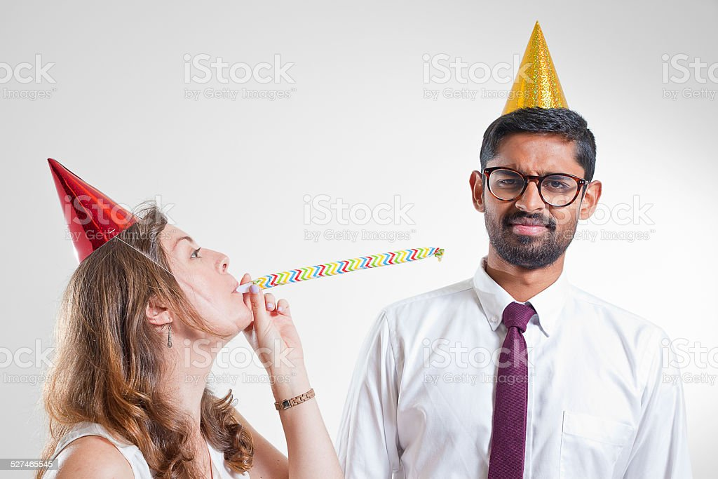 New Year's Eve Office Party stock photo