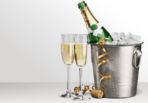 new year's eve. - champagne stock pictures, royalty-free photos & images