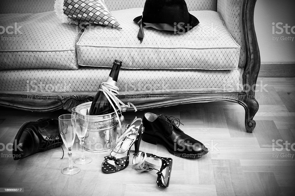 New Year's Eve.Black And White royalty-free stock photo