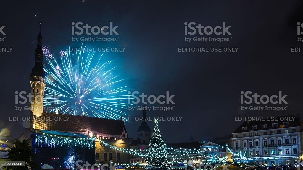 Silvester Feuerwerk in Tallinn – Foto