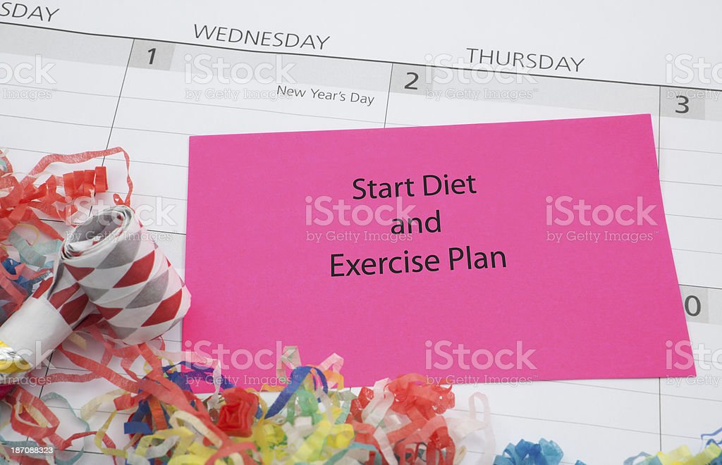 New Year's Goal: Diet and Exercise royalty-free stock photo