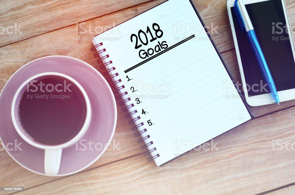 Objetivos del año nuevo foto de stock libre de derechos
