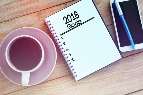 New Year's Goals stock photo