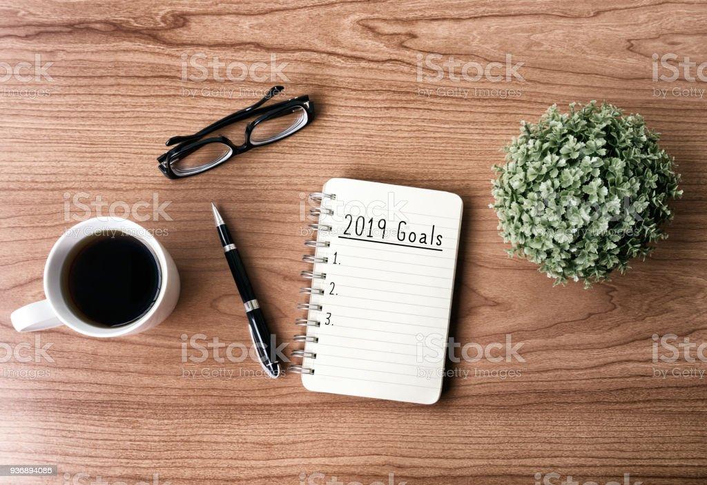 2019 New Year's Goals stock photo