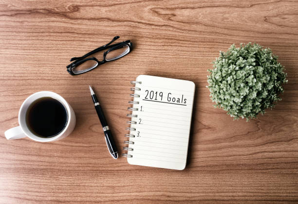 2019 New Year's Goals stock photo