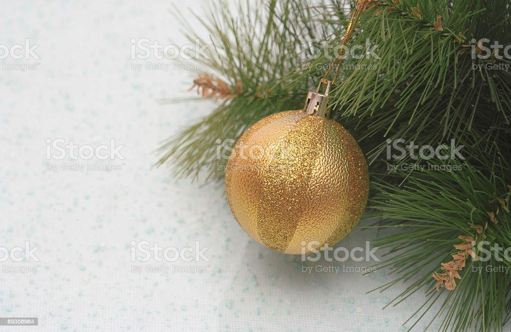 New Year's gold sphere royaltyfri bildbanksbilder