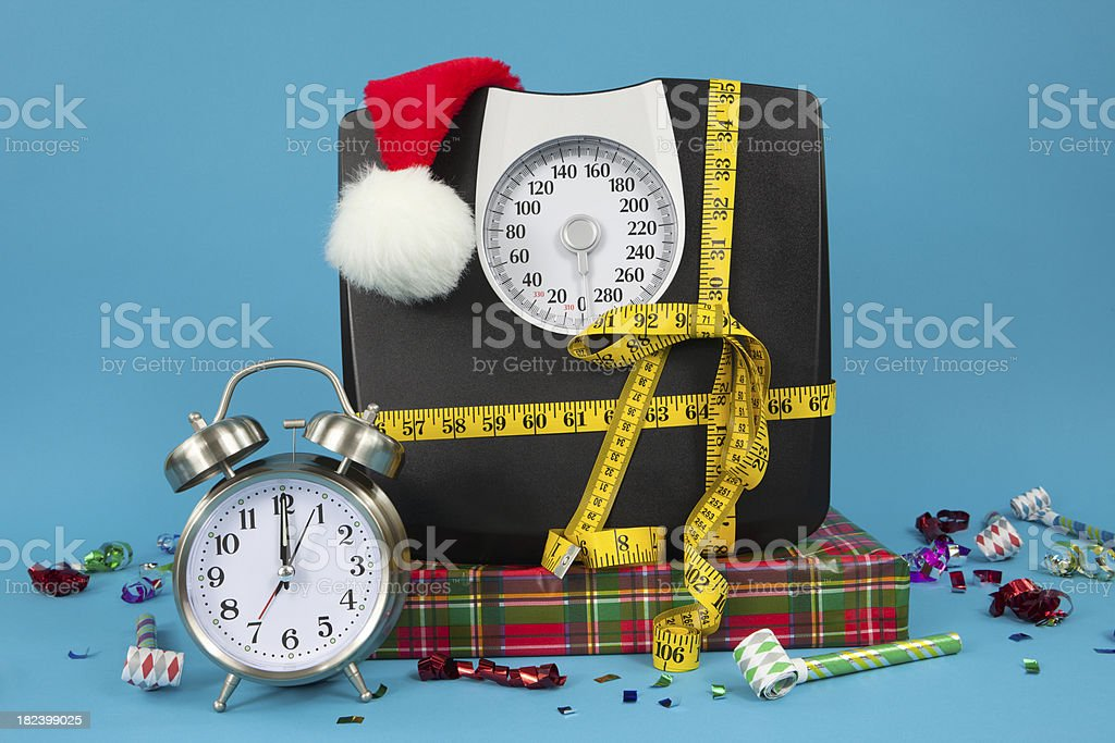 New Year's Healthy Resolution royalty-free stock photo