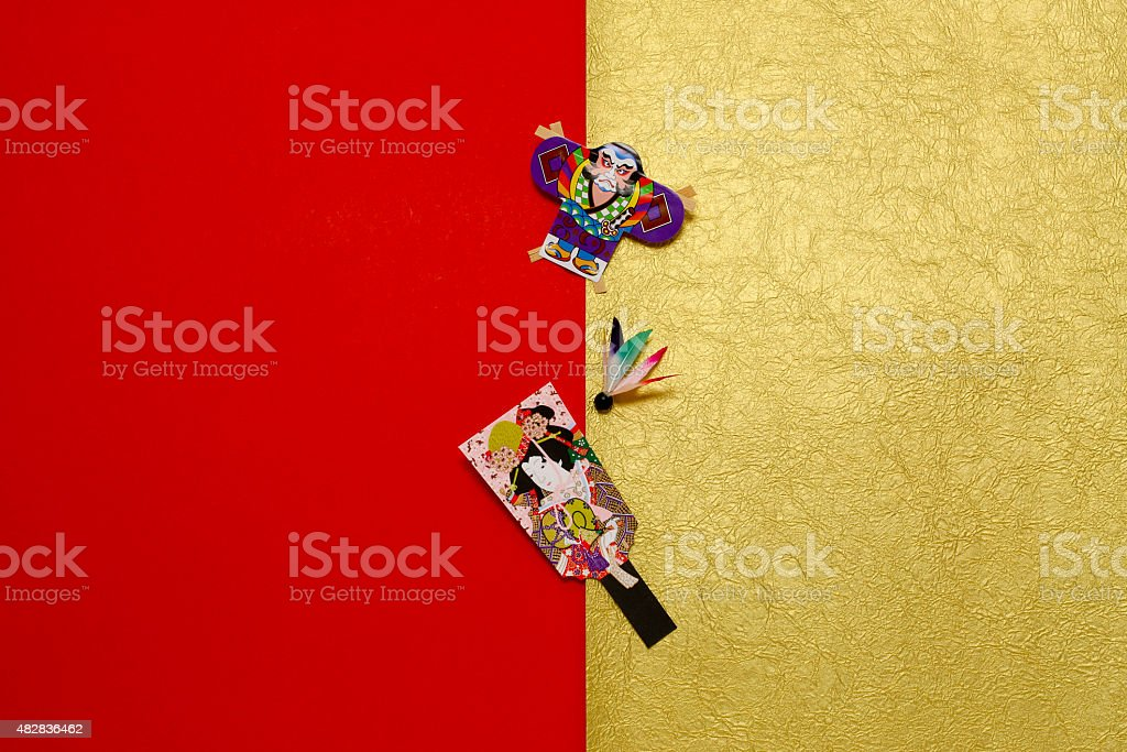 New Year's material of Japan stock photo