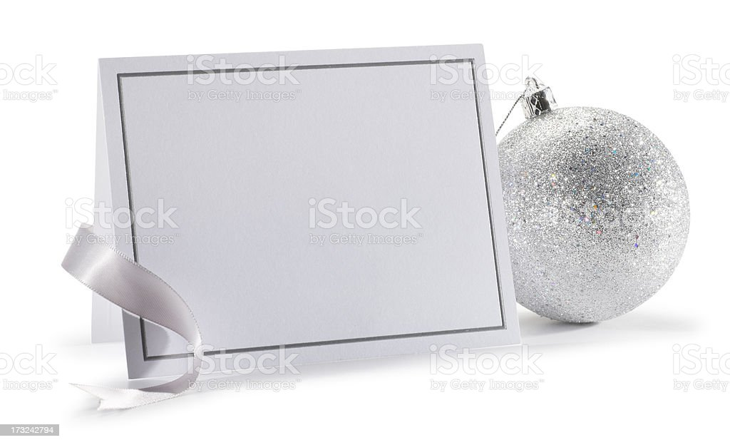 New Year's or Christmas Invitation royalty-free stock photo