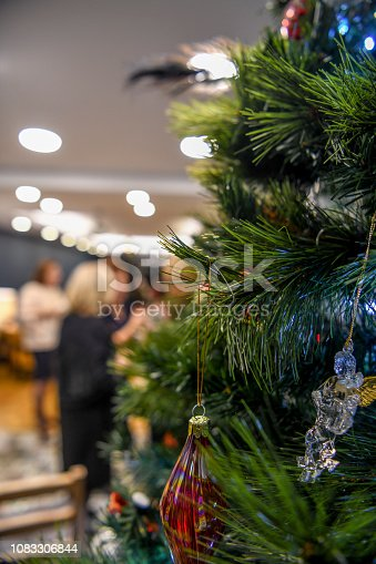 Christmas Tree, Party - Social Event, Dancing, Celebration Event, Celebratory Toast, Mixed Race Person