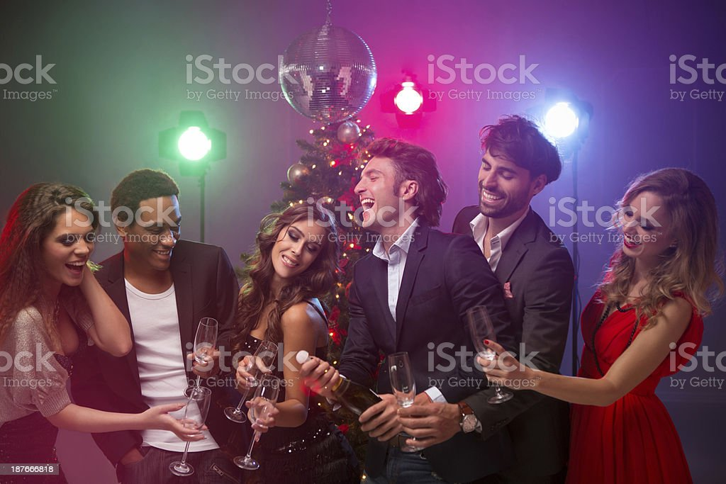 New year's party. royalty-free stock photo
