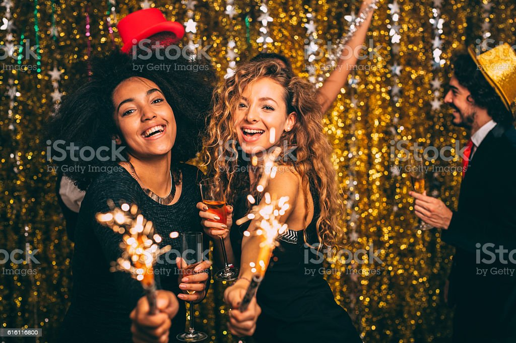 New year's party stock photo