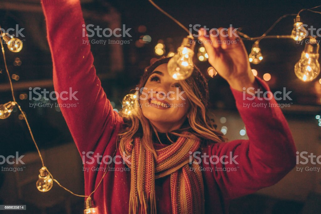 New Year's party preparations stock photo