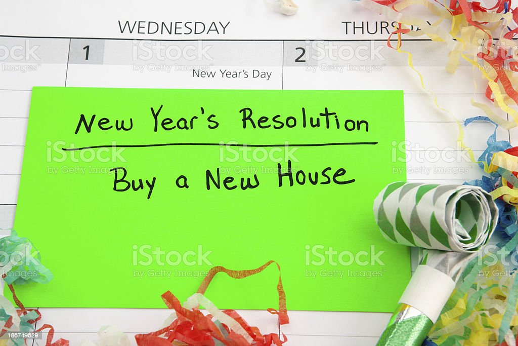 New Years Resolution: Buy House royalty-free stock photo