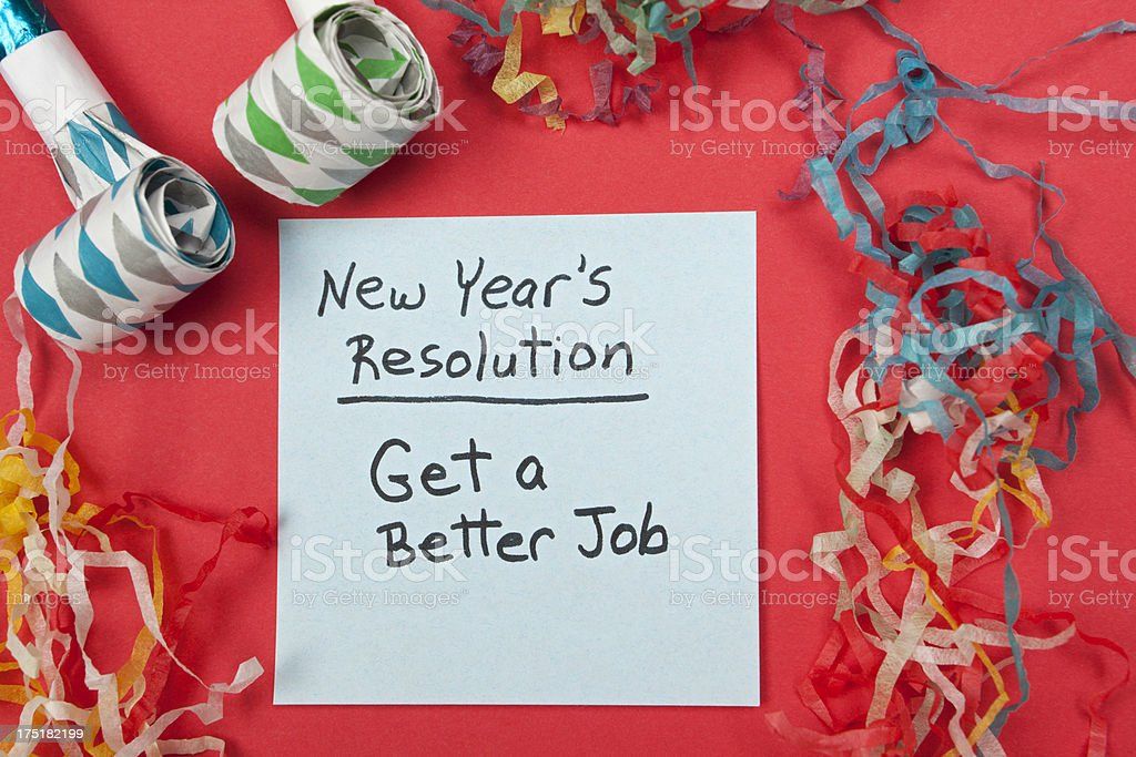 New Years Resolution: Get a Better Job royalty-free stock photo