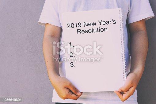 istock 2019 New Year's Resolution 1086649694