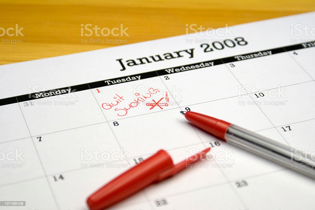 New Year's Resolution royalty-free stock photo