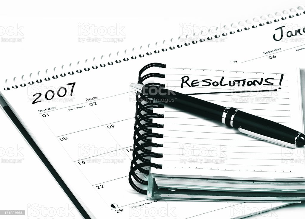 New years resolution royalty-free stock photo
