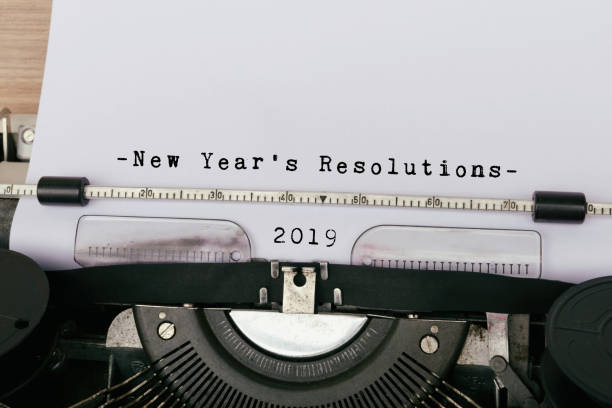 2019 New Year's Resolution stock photo