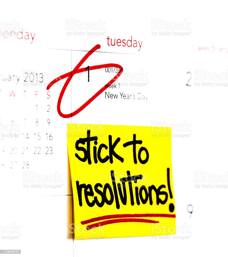New Years Resolution Stick To Resolutions stock photo 174978770 | iStock