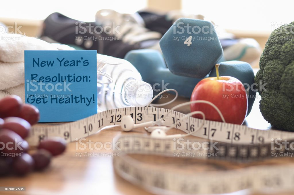 New Year's Resolution to Get Healthy! stock photo