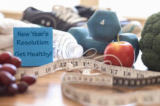 Neujahrsvorsatz, gesund zu erhalten! – Foto