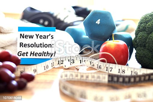 1070617536 istock photo New Year's Resolution to Get Healthy! 1070618048
