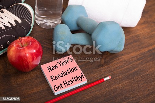 1070617536 istock photo New Year's Resolution to get healthy. 618032896