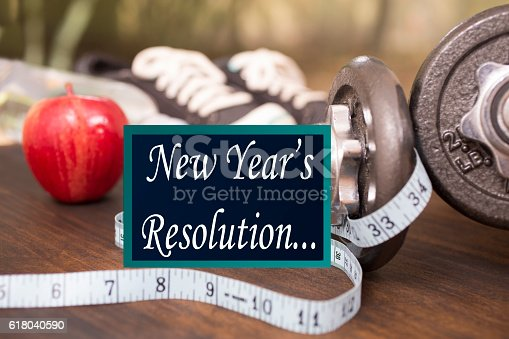 1070617536 istock photo New Year's Resolution to get healthy. 618040590