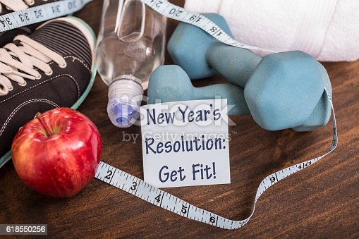 1070617536 istock photo New Year's Resolution to get healthy. 618550256
