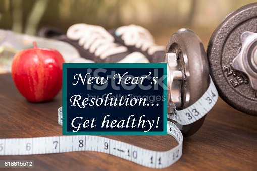 1070617536 istock photo New Year's Resolution to get healthy. 618615512