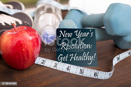 istock New Year's Resolution to get healthy. 618946460