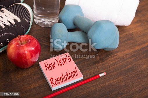1070617536 istock photo New Year's Resolution to get healthy. 625758164