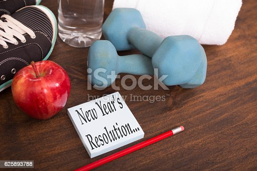 1070617536 istock photo New Year's Resolution to get healthy. 625893788