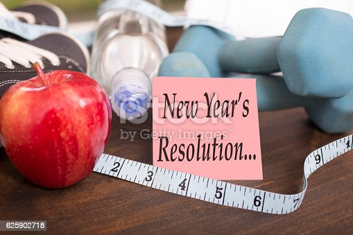 1070617536 istock photo New Year's Resolution to get healthy. 625902718