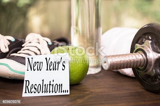 1070617536 istock photo New Year's Resolution to get healthy. 625925076