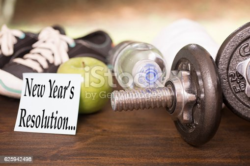 1070617536 istock photo New Year's Resolution to get healthy. 625942498