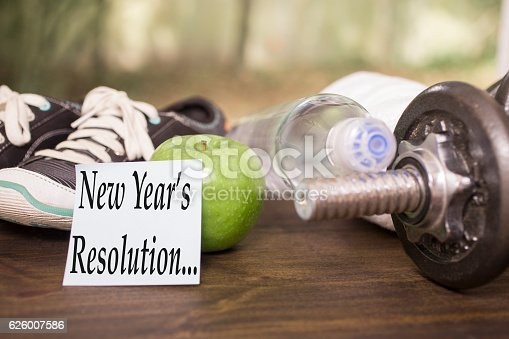1070617536 istock photo New Year's Resolution to get healthy. 626007586