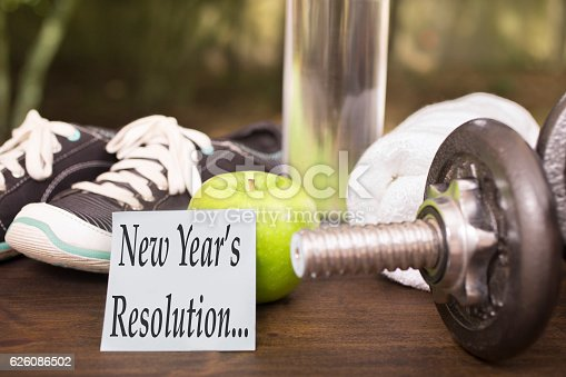 1070617536 istock photo New Year's Resolution to get healthy. 626086502